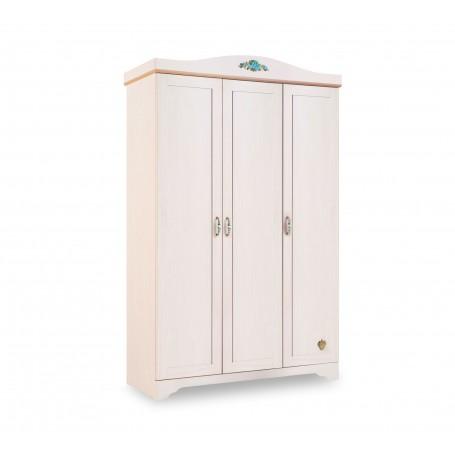 Flower 3 dörrar garderob