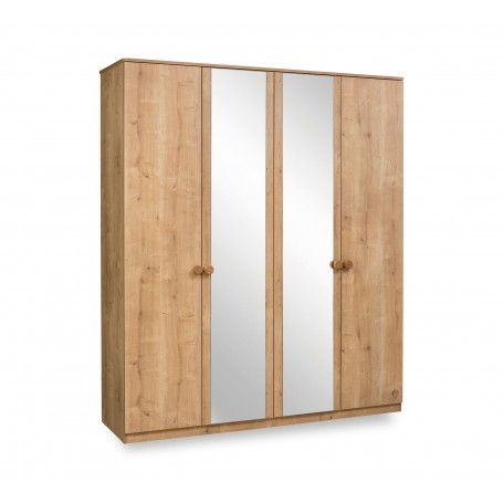 Mocha 4 dörrar garderob