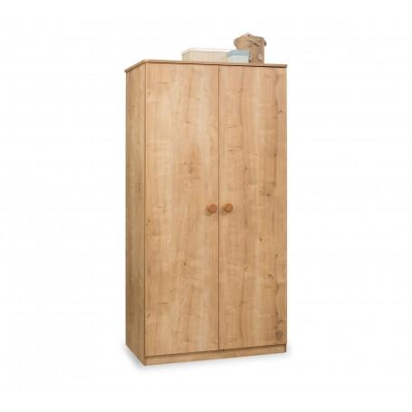 Mocha 2 dörrar garderob