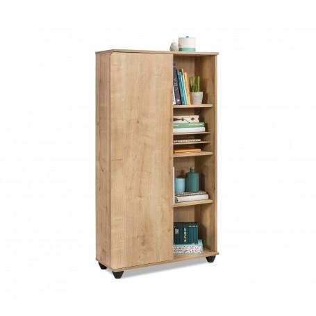 Mocha bokhylla med dörr