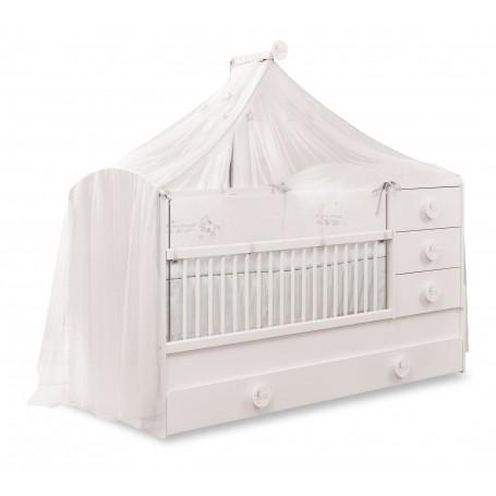 Baby Cotton Sl utdragbar spjälsäng / växasäng (80x180 Cm) med gästsäng