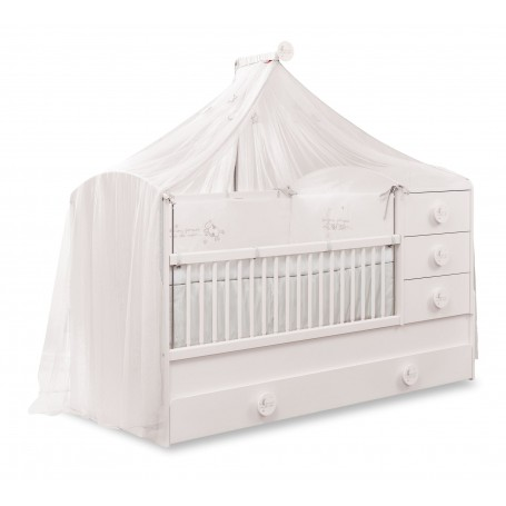 Baby Cotton Sl utdragbar spjälsäng / växasäng (80x180 Cm) med sänglådor
