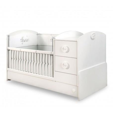Baby Cotton Sl utdragbar spjälsäng / växasäng (75x160 Cm)