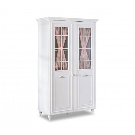 Romantica 2 dörrar garderob med fönster