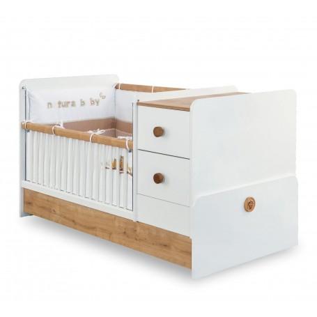 Natura Baby utdragbar spjälsäng / växasäng (75x160 Cm)