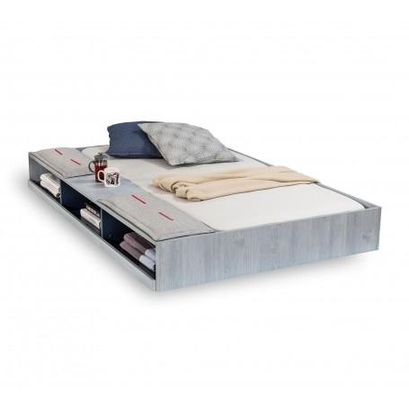 Trio sänglådor med hyllor (90x190 Cm)