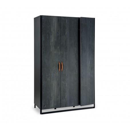Dark Metal 3 dörrar garderob