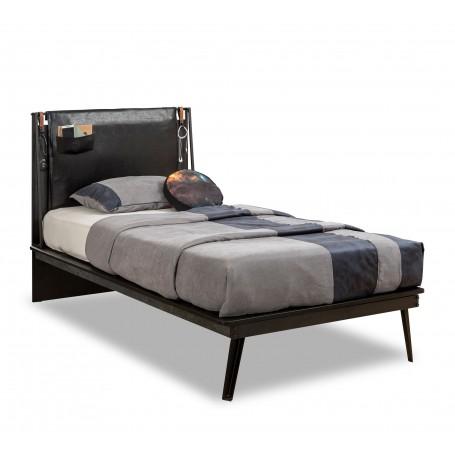 Dark Metal Line säng (100x200 Cm)