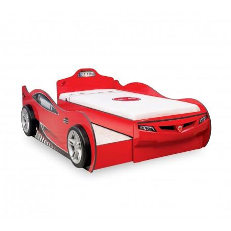 Coupe bilsäng (Med vän säng) (röd)