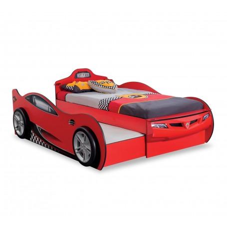Race Cup bilsäng (Med gästsäng) (röd)
