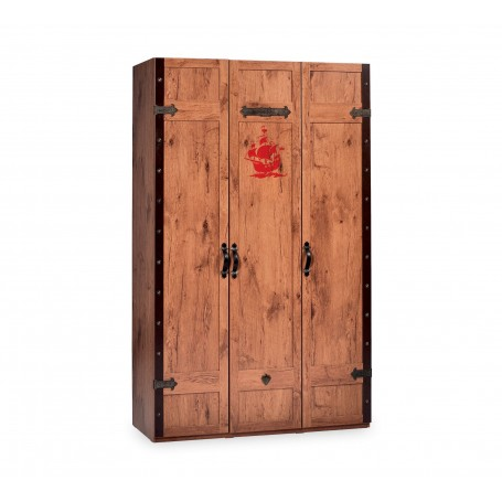 Pirat 3 dörrar garderob