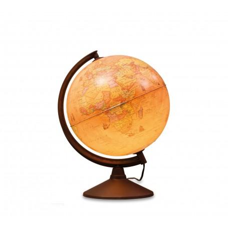 Världs glob med ljus