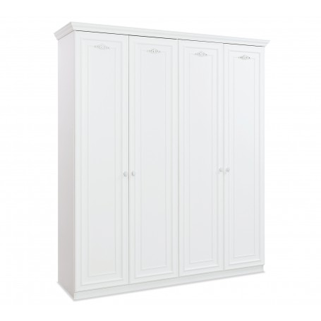 Romantica 4 dörrar garderob