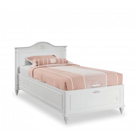 Romantica säng med förvaring (100x200 Cm)