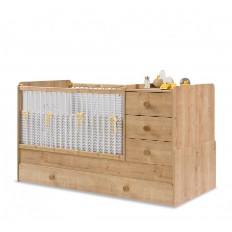 Mocha Baby utdragbar spjälsäng / växasäng (80x180 Cm)