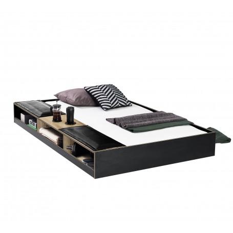 Black sänglådor med hyllor (90x190 Cm)