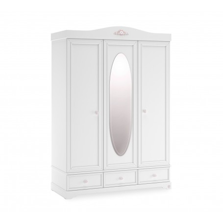 Rustic White 3 dörrar garderob
