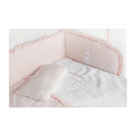 Cat Girl Baby spjälskydd set för bedside crib
