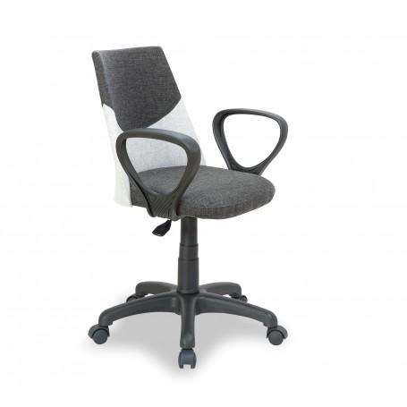Dual skrivbordsstol (grå)