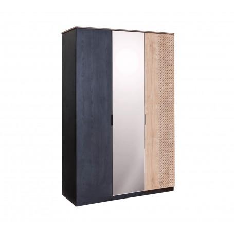 Black 3 dörrar garderob