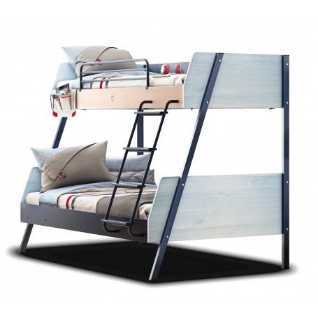 Trio våningssäng (90x200-120x200 Cm)