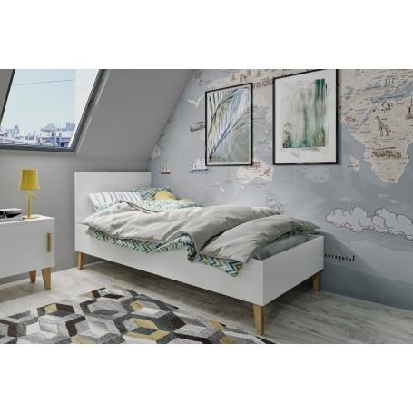 Kubi 1 barnsäng med madrass och sänglåda