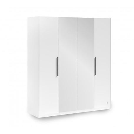 White 4 dörrar garderob