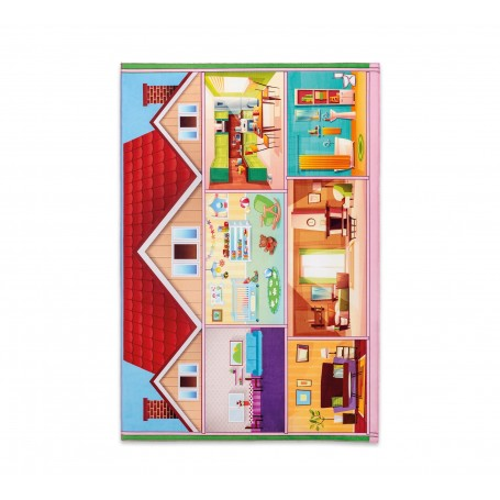 Mjuk Play House matta (100x150 Cm)