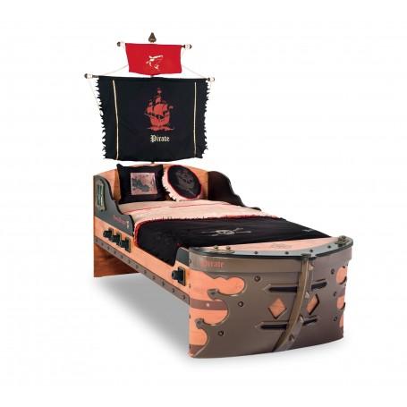 Piratskepp säng (S-90x190 Cm)