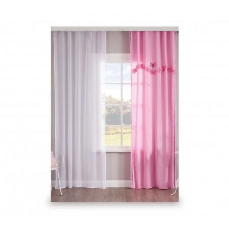 Rosa draperi (140x260 Cm)