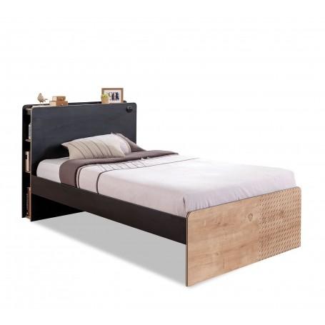 Black säng (100x200 Cm)
