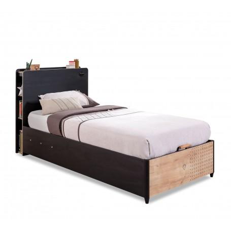 Black säng med förvaring (100x200 Cm)