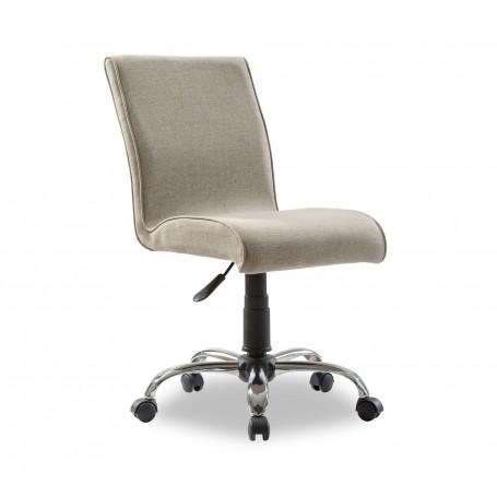 Mjuk skrivbordsstol (beige)