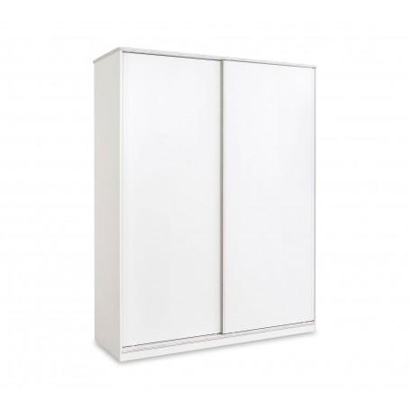 White garderob med skjutdörrar