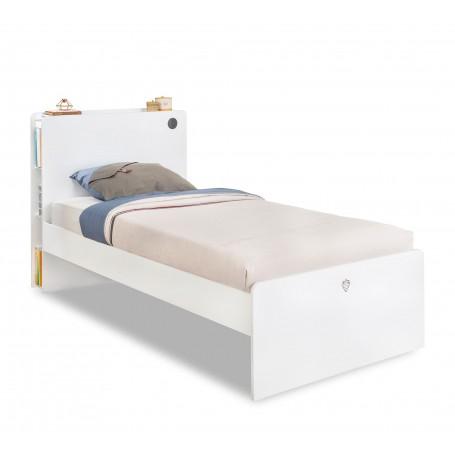 White säng (100x200 Cm)